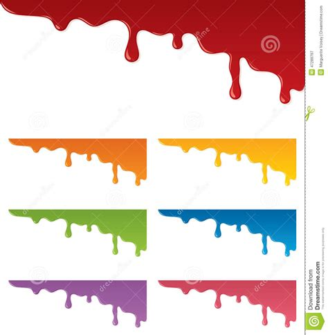 Dripping Paint Stock Vector - Image: 47289797