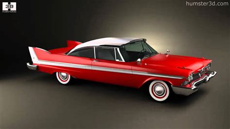 Plymouth Fury coupe Christine 1958 by 3D model store
