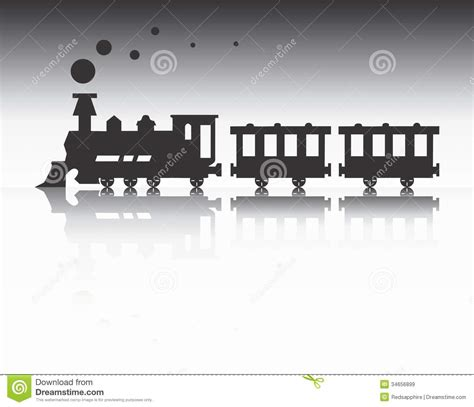 Train Silhouette Royalty Free Stock Images - Image: 34656899